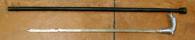 A sword cane was discovered at Kahului (OGG).