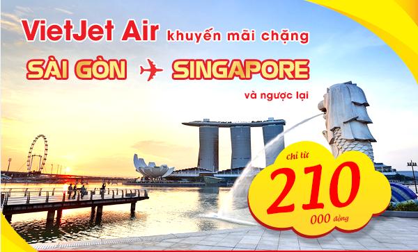 Du lịch Singapore với vé máy bay giá rẻ chỉ 210.000 đồng của Vietjet