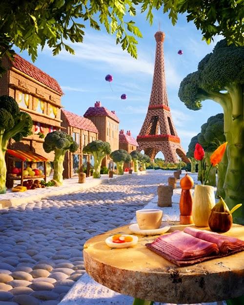 05-Paris-Boulevard-Foodscapes-British-Photographer-Carl-Warner-Food- Vegetables-Fruit-Meat-www-designstack-co