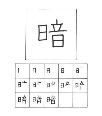 kanji gelap