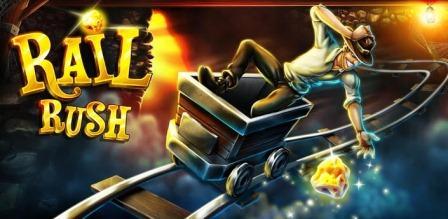 Rail Rush juego del minero