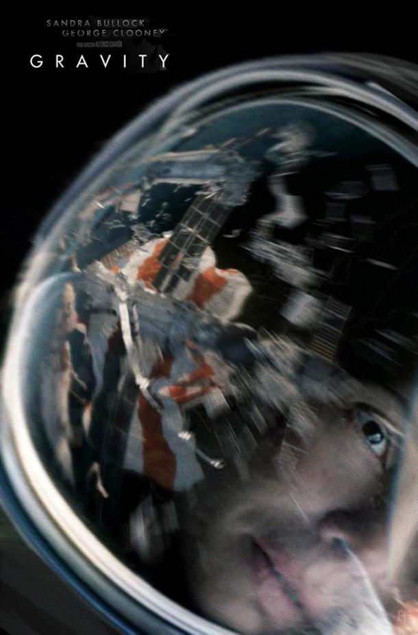 Cartazes aternativos para Gravity, de Alfonso Cuaron