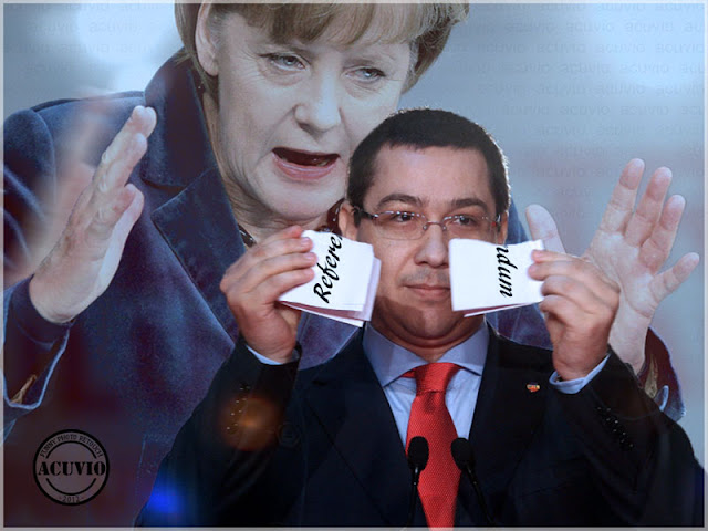 Funny photo Angela Merkel Victor Ponta Referendum