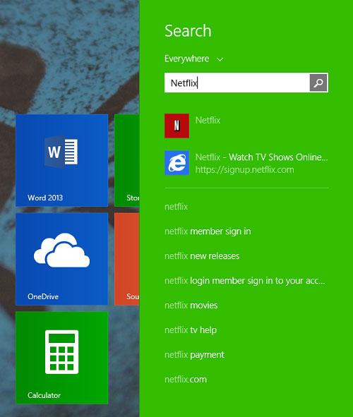 Để tìm kiếm tốt hơn và nhanh hơn trên Windows 8.1 4