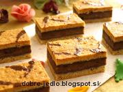 Maslovo-orechové rezy - recept