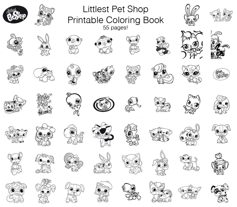 quirky artist loft littlest pet shop free printable coloring book