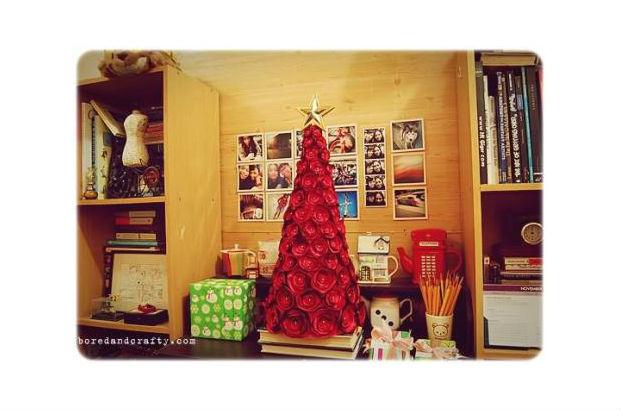 C mo hacer un rbol de navidad con tela mimundomanual - Arboles de navidad de tela ...
