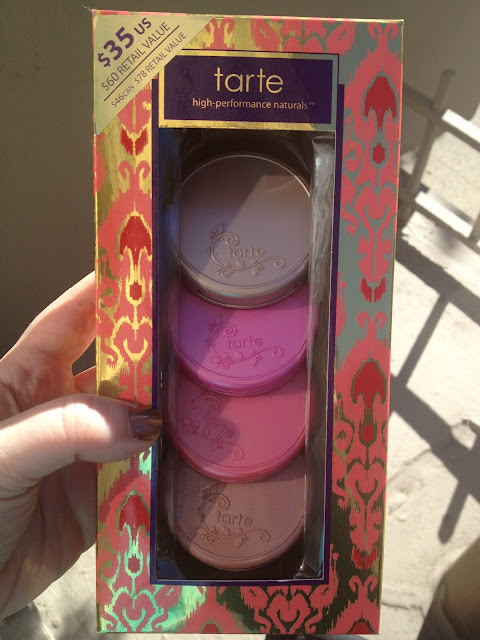 Tarte Holiday 2012 Fantastic Foursome Amazonian Clay 12-Hour Blush Enthusiast Set Swatches, Photos, & Review