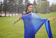 Neelam Upadhyay pics in Blue saree