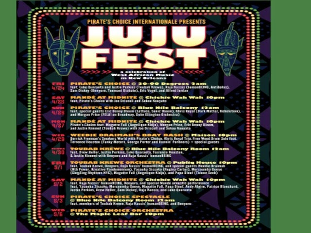 JuJu Fest Coming To New Orleans During Jazz Fest