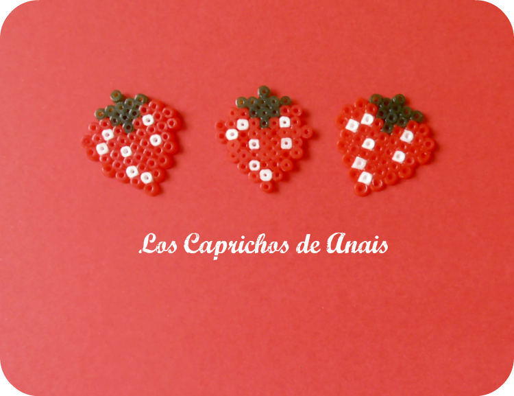 Fresas Hama Beads_Los Caprichos de Anais