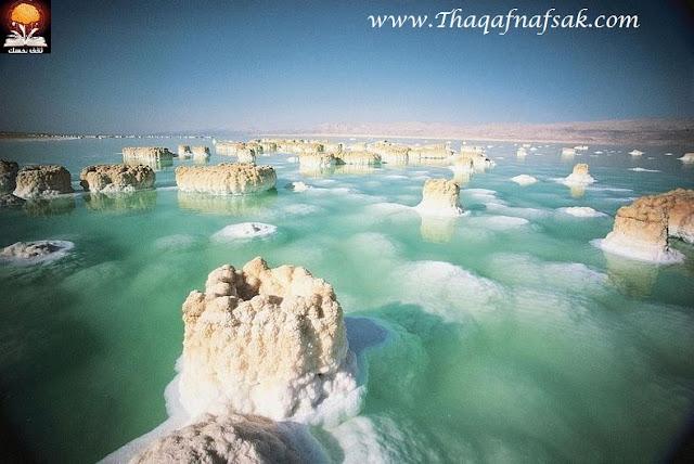dead sea salt crystals 1%255B2%255D تكوينات غريبة للملح في البحر الميت