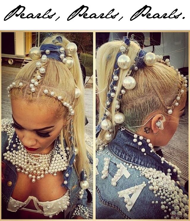 Rita Ora Pearls