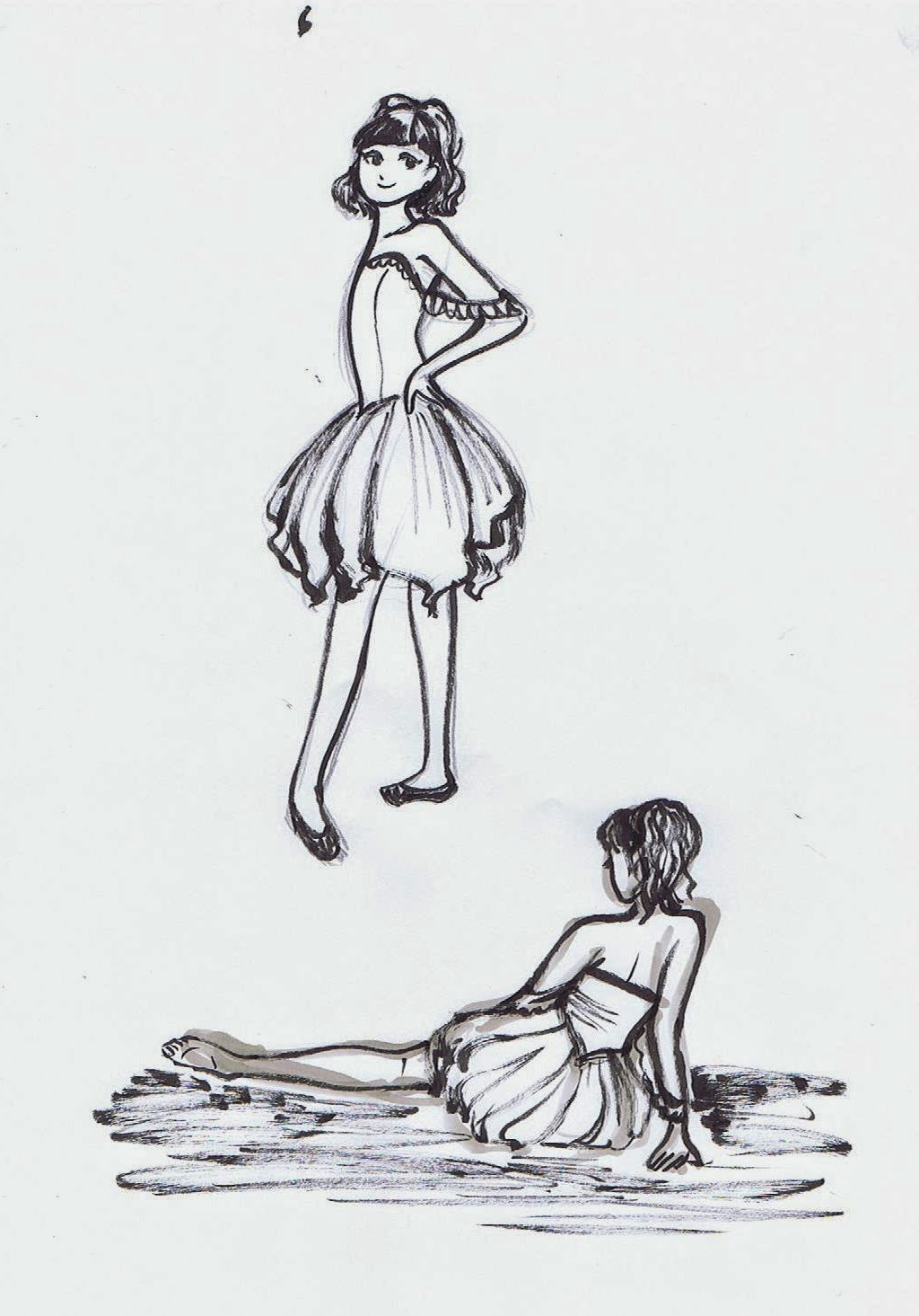5 minute drawings ~ Ballerinas