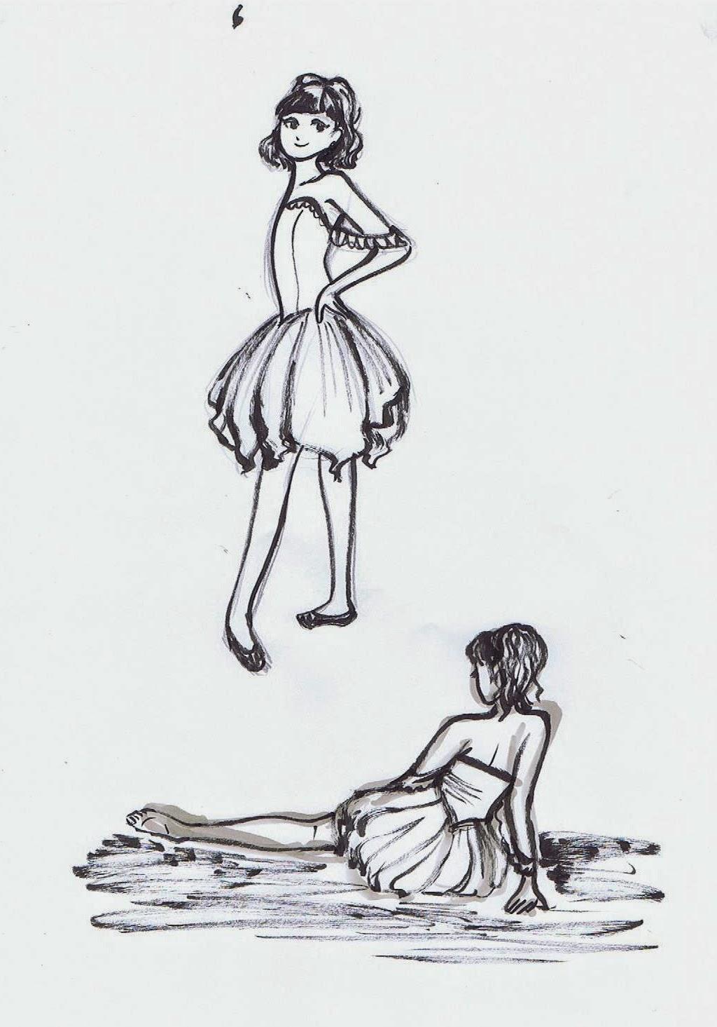 5 minute drawings ~ Ballerinas