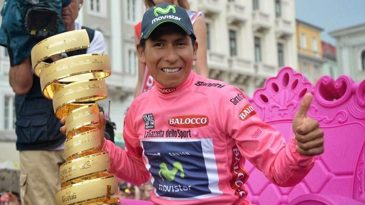Nairo Quintana flamante ganador del Giro 2014