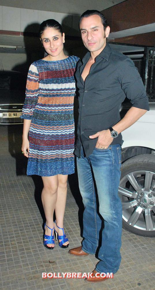 kareena kapoor with saif ali khan in car garage, saif looking bit gay - Saif ali khan with kareena kapoor - unseen Photo