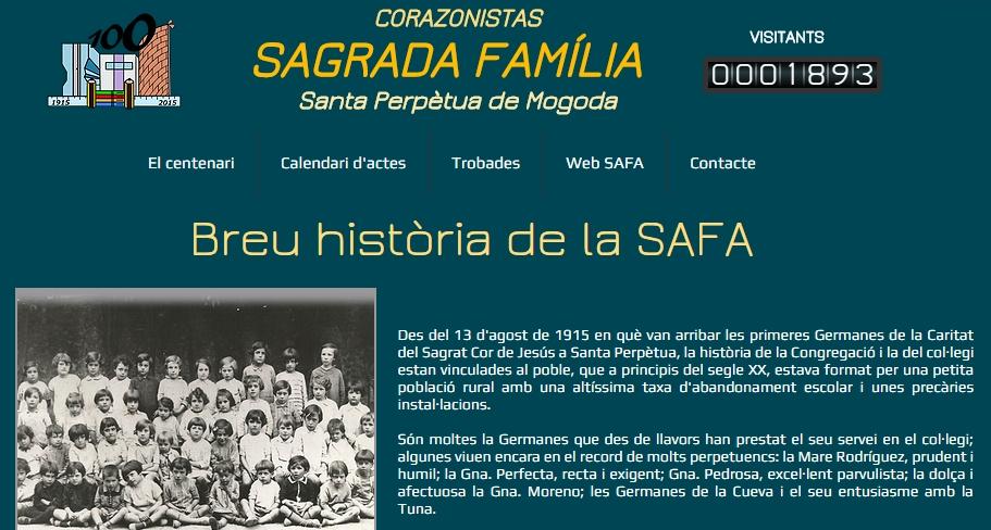 Web centenari SAFA