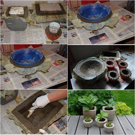 Maceteros de cemento paso a paso - Como hacer cemento ...