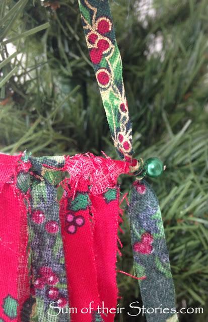Mini fabric wall hanging Christmas Tree Ornaments