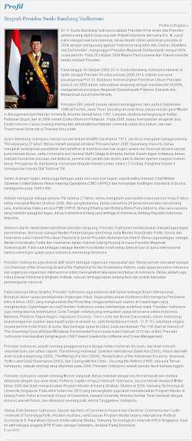 Contoh biografi singkat Susilo Bambang Yudhoyono (SBY)