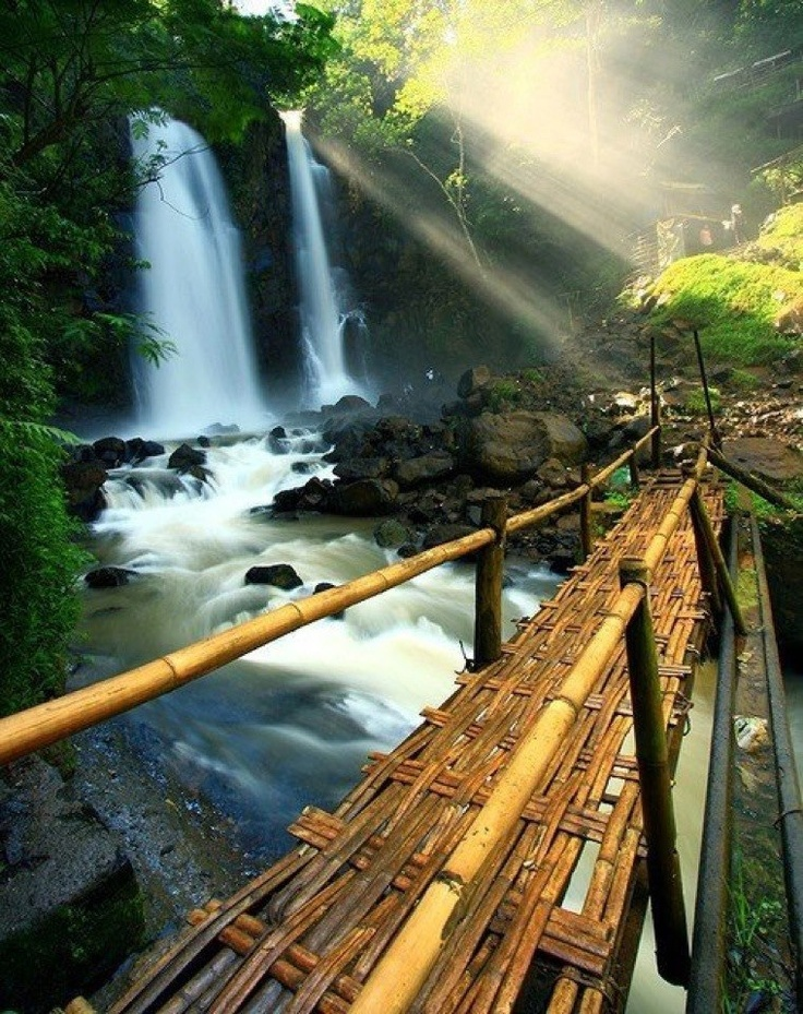 Bamboo bridge, Indonesia