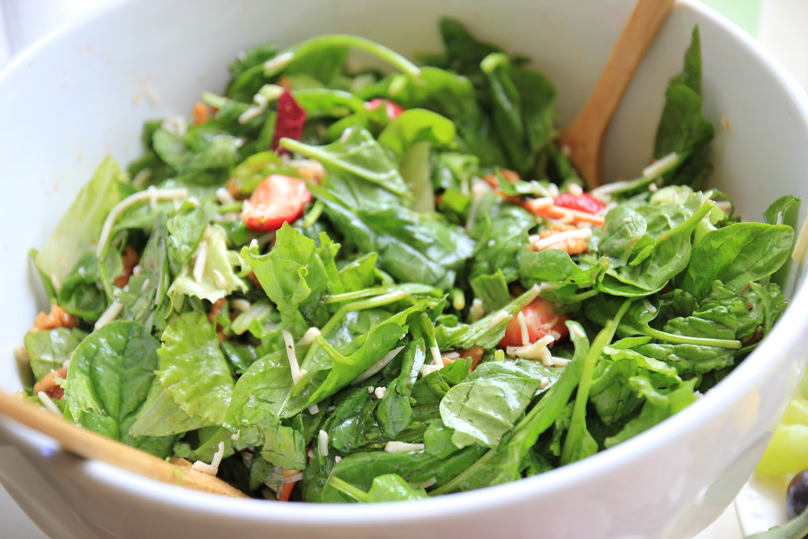 This is the recipe for the Spinach & Strawberry Salad that we made for ...