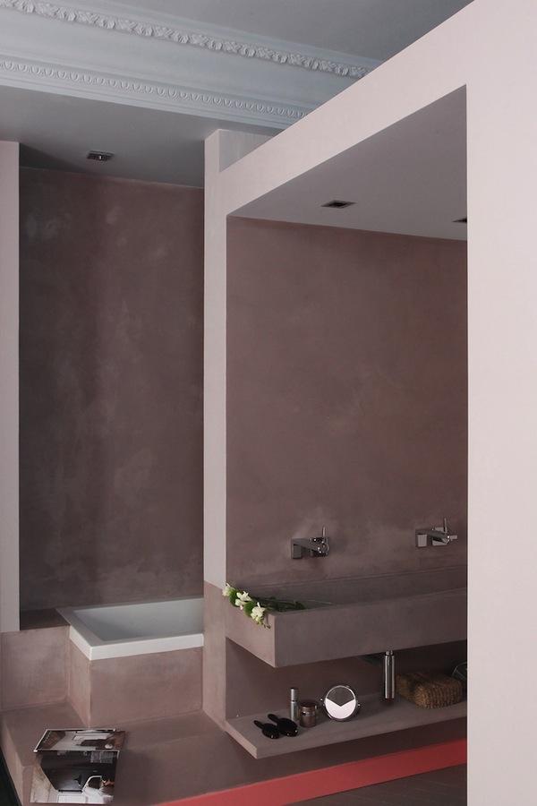Bagno in pastina di cemento in casa primi 900  Natural & Colors