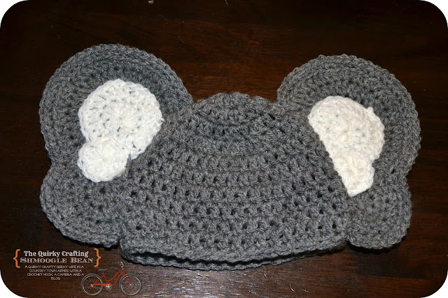 Free Crochet Pattern Infant Elephant Hat : The Quirky Crafting Shmoogle Bean: Newborn Baby Heffalump ...