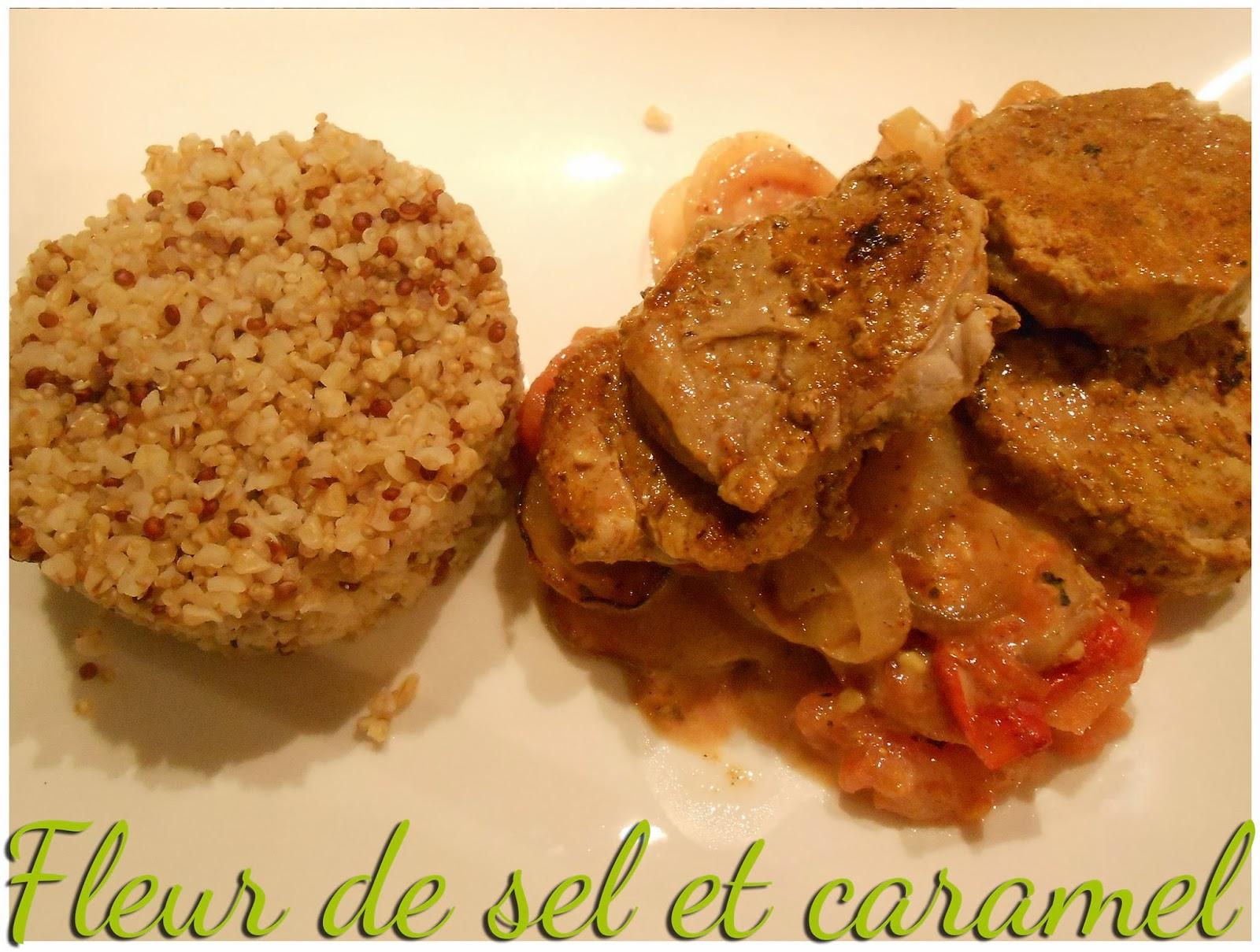 Grenadins de porc au curry et ses légumes poêlés