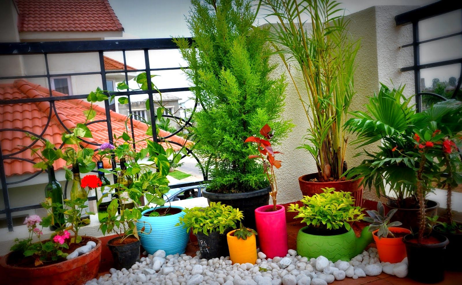 Home garden design for small spaces for Balcony garden design ideas