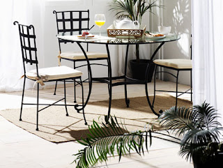 mesa redonda forja, mesa comedor forja, mesa redonda con cristal