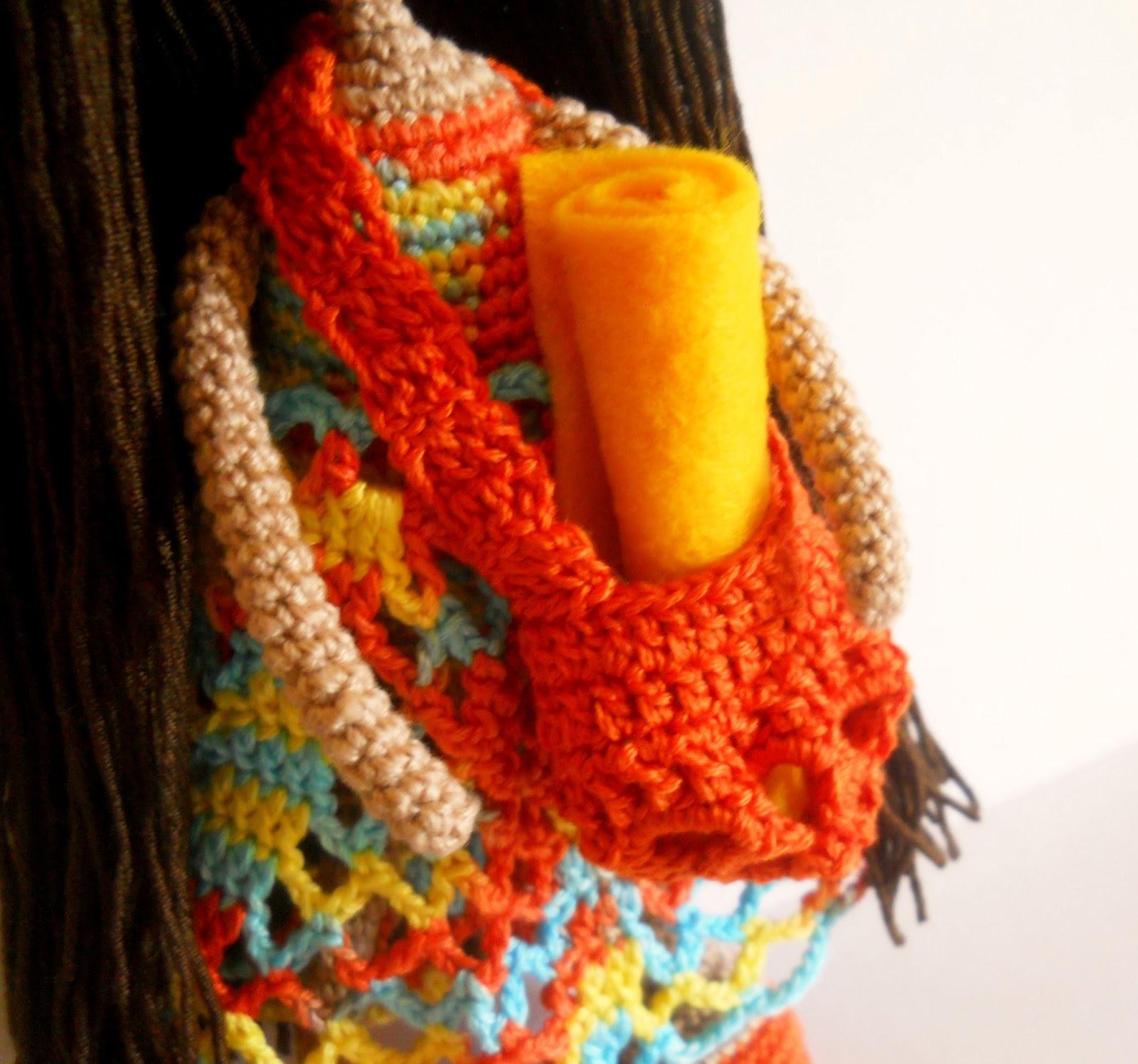 Сумочка для вязаной куклы Полины