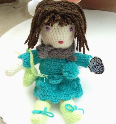 poupée au crochet crocheted doll