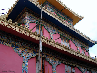 A colourful Tibetan building at Mcleodganj, representative of the prevalent Buddhist culture