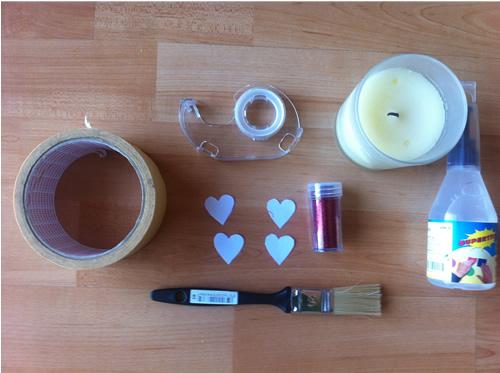 como decorar velas con purpurina