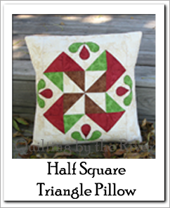 Half Square Triangle pillow tutorial at Freemotion by the River