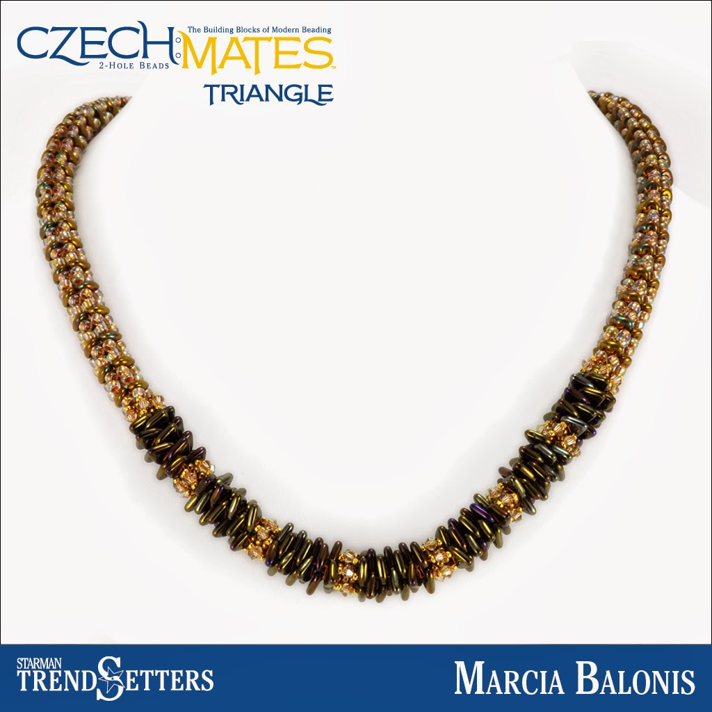 CzechMates Triangle necklace by Starman TrendSetter Marcia Balonis