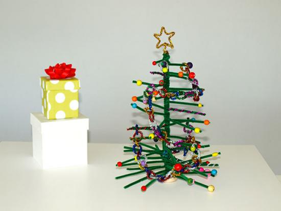 pipe cleaner christmas tree little birdie secrets