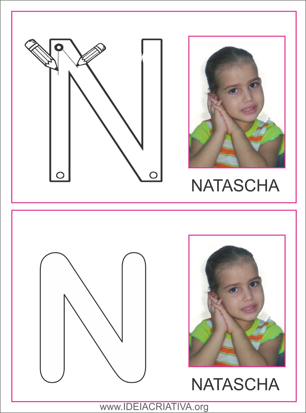 Cartões  treino letra inicial Alfabeto