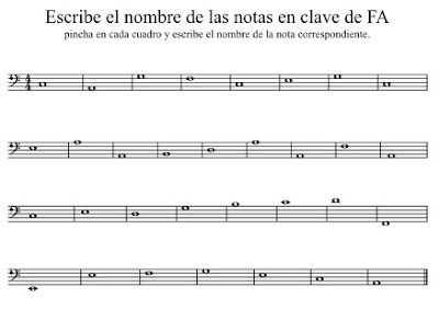 Ejercicios para practicar la clave de FA | Eduplaneta Musical