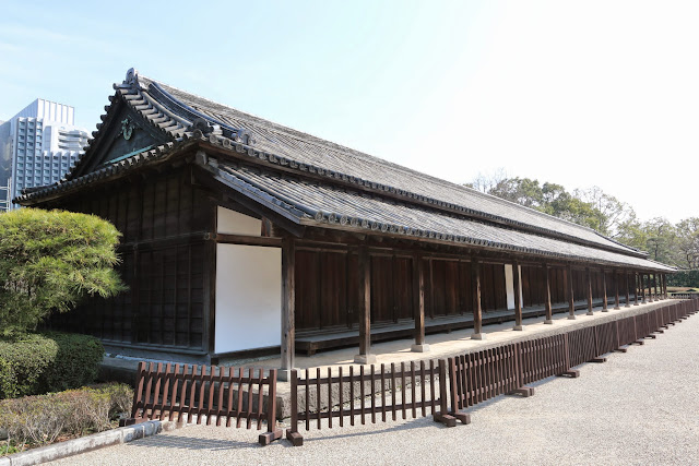 Hyakunin-bosho Guardhouse is the biggest guardhouse to inspect visitors who entered from ote-mon gate in the Edo period at Imperial Palace East Garden, Tokyo