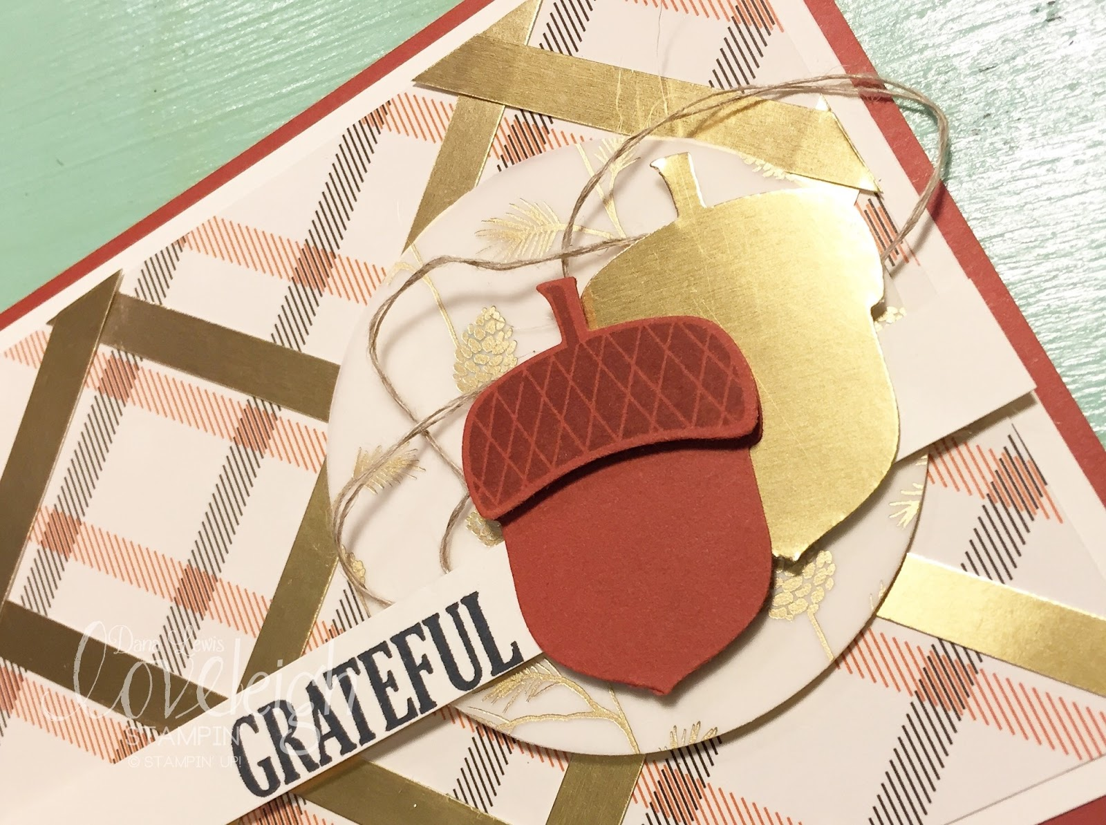 Loveleigh stampin 39 mad for plaid - What you can do with acorns a bit of health and embellishment ...