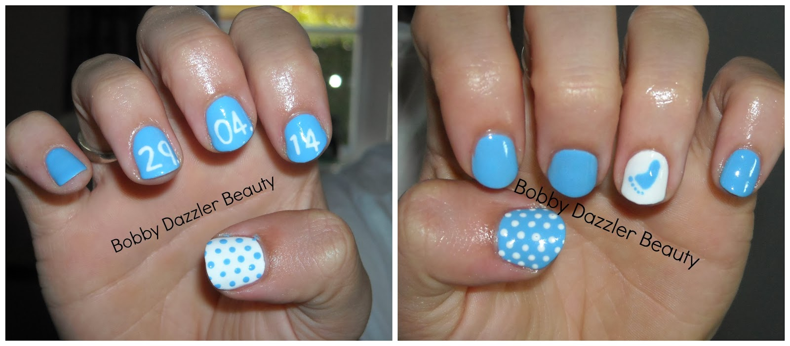Bobby Dazzler Baby Shower Nails
