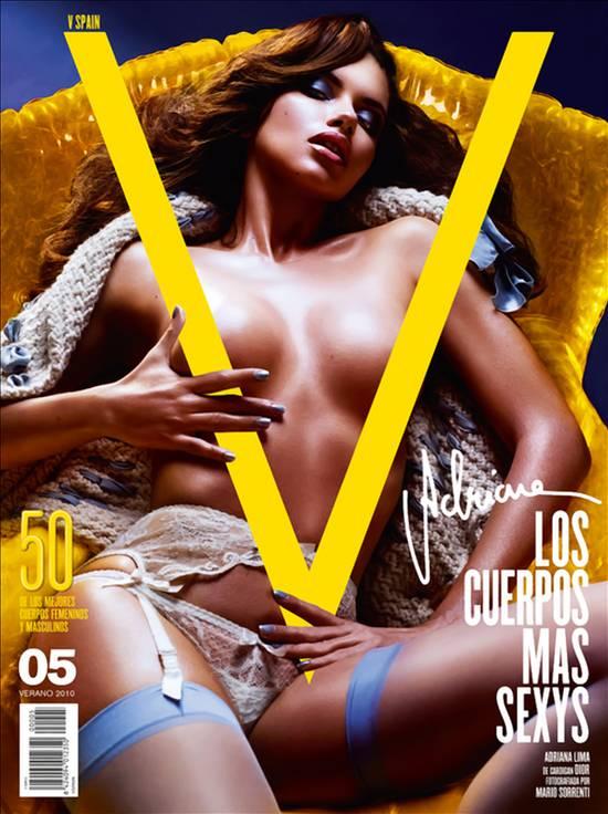 Topless Adriana Lima