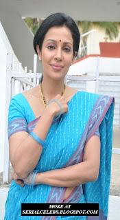 Aunty Actress Mayuri in saree