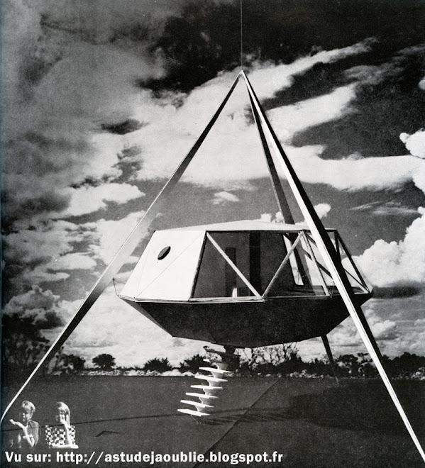 Maison Plastique futuriste - cellule préfabriquée  Architecte: Paul Maymont  Projet: 1963