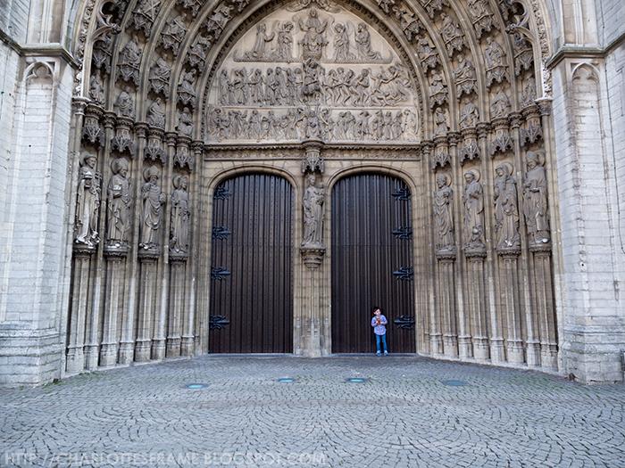 Onze-Lieve-Vrouwekathedraal deuren, ingang kathedraal, Cathedral of Our Lady - Antwerp entrace doors,