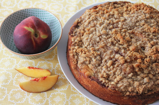 Peachy Keen Cobbler Cake and Chobani Giveaway