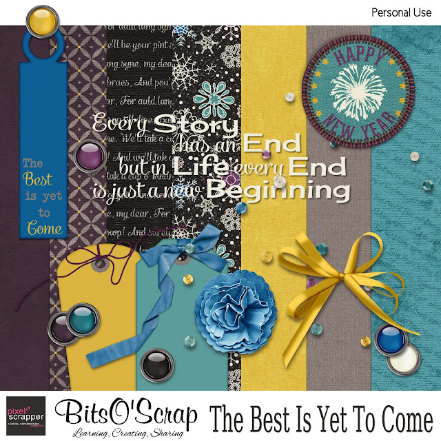 "Pixel Scrapper January 2014 Blogtrain ""The Best Is Yet To Come"""